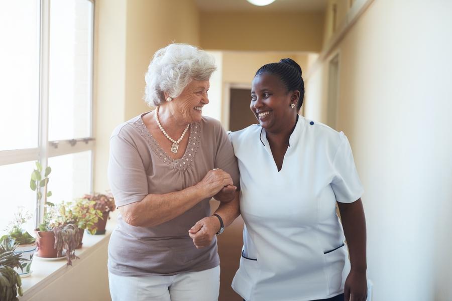 Caregiver and Senior in Durham NC